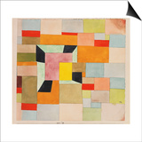 Split Coloured Rectangles Poster by Paul Klee