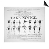 'Take Notice', American Revolutionary War Recruitment Poster Prints by  American School