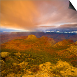 Bright Clouds Over Grand Canyon Prints by John Eastcott & Yva Momatiuk