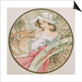 November, 1899 (Detail) Prints by Alphonse Mucha