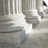 Columns at Supreme Court Building Prints by Ron Chapple