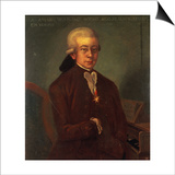 Portrait of Wolfgang Amadeus Mozart Prints by  Austrian School