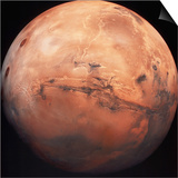Valles Marineris Hemisphere of Mars Poster
