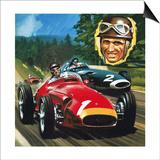 Juan Manuel Fangio Posters by Wilf Hardy
