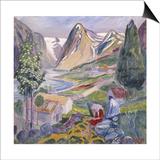 Kari at Sunde; Kari Paa Sunde Prints by Nikolai Astrup