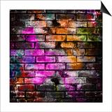 Graffiti Brick Wall Poster by Eky Studio