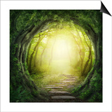 Road In Dark Forest Prints by  egal