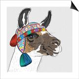 Vector Sketch of Alpaca Plakat af kavalenkava volha