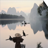 Cormorant fishermen in Li River Posters by Martin Puddy
