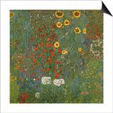 Farm Garden with Sunflowers, 1905-06 Prints by Gustav Klimt