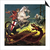 The Truth Behind the Legend: St George -- the Soldier Who Became a Saint Prints by  English School