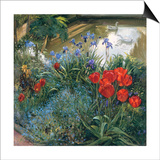 Red Tulips and Geese Posters by Timothy Easton