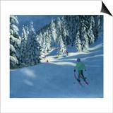 Fresh Snow, Morzine, France Art by Andrew Macara