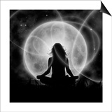 Moon Meditation Prints by  Detelina