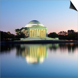 Jefferson Memorial Print by Ron Chapple