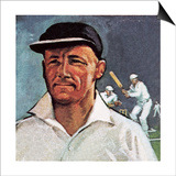 Sir Donald Bradman Prints by  English School