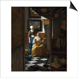 The Love Letter Posters by Jan Vermeer