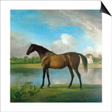 Lord Bolingbroke's Brood Mare in the Grounds of Lydiard Park, Wiltshire, C.1764-66 Posters by George Stubbs