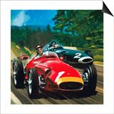 Juan Manuel Fangio Print by Wilf Hardy