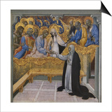 Mystic Marriage of Saint Catherine of Siena Kunst af Giovanni di Paolo