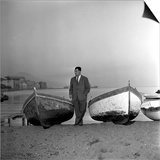 Giuseppe Marotta in Naples, 23rd November 1956 Prints