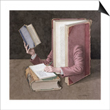 Books on Books, 2003 Prints by Jonathan Wolstenholme