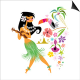 Hula dancer Prints by Kirsten Ulve
