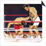 Muhammad Ali Regaining His Crown in the Fight Against George Foreman in 1974 Print by John Keay
