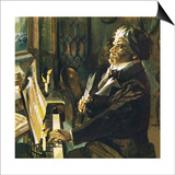Beethoven at the Piano Print by  English School