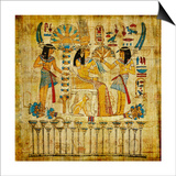 Old Egyptian Papyrus Print by  Maugli-l