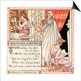 Brother and Sister, Illustration from 'Baby's Own Aesop', Engraved and Printed by Edmund Evans,… Print by Walter Crane
