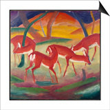 Red Deer 1, 1910 Posters by Franz Marc
