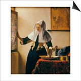 Young Woman with a Water Jug Prints by Jan Vermeer