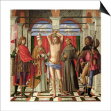 Saint Sebastian with Saints Liberale, Gregory, Francis and Roch Art by Giovanni Di Niccolo Mansueti