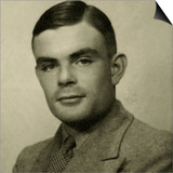 Portrait of Alan Mathison Turing Print