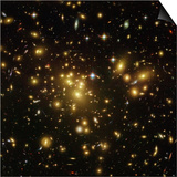 Gravitational Lens of a Galaxy Cluster Art