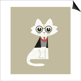 Wizard Cat Prints by Budi Kwan