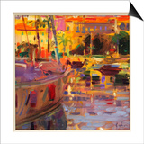 Southern French Port Print by Peter Graham