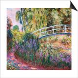 The Japanese Bridge, Pond with Water Lillies; Le Pont Japonais Bassin Aux Nympheas Poster tekijänä Claude Monet