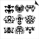 Nine Rorschach Test Posters by  akova
