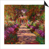Path in Monet's Garden, Giverny Prints by Claude Monet