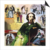 Charles Dickens with His Characters Print by Ralph Bruce