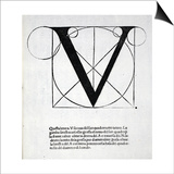 V, Illustration from 'Divina Proportione' by Luca Pacioli (C.1445-1517), Originally Pub. Venice, Posters by  Leonardo da Vinci