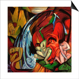 The Waterfall, 1912 Prints by Franz Marc