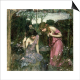 Study for 'Nymphs Finding the Head of Orpheus', C.1900 Prints by John William Waterhouse