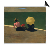 On the Beach, 1899 Prints by Félix Vallotton