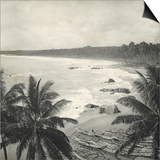 Mount Lavinia Bay, Ceylon, February 1912 Posters by  English Photographer