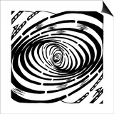 Wave Swirl Optical Illusion Art by Yonatan Frimer