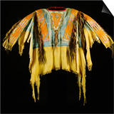 A Southern Cheyenne Quilled and Fringed Hide Warrior's Shirt Posters