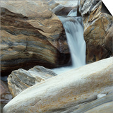 Waterfall in Verzasca Valley Posters by Micha Pawlitzki